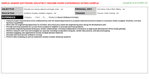 Architect Resume Samples Servicenow Architect Resumes Samples