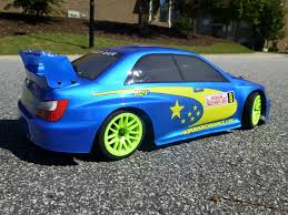 yellow subaru wrx redcat racing lightning epx subaru wrx body hipowerrc wheels