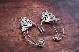 wire ear cuffs elven ear cuffs silver fairy ear cuffs