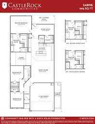sabine cobalt home plan by castlerock communities in cantarra