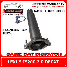 lexus warranty uk lexus is200 2 0 t304 100 stainless steel decat replacement pipe
