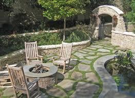 Backyard Idea Only For The Flagstone Ground Cover Idea Backyard Ideas Gogo Papa