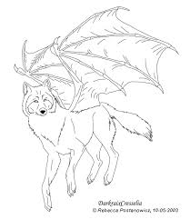 wolf bat lineart by darkraixcresselia on deviantart