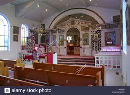 interior russian orthodox church hartshorne oklahoma usa stock