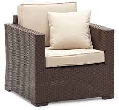 Dark Brown Wicker Patio Furniture by Strathwood Griffen Furniture All Weather Wicker Chair Dark Brown
