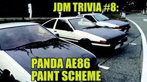 jdm panda sticker banpei net panda ae86 paint scheme jdm trivia 8