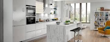 cuisine blanche avec ilot central ixina cuisine blanche avec îlot central a découvrir dans le