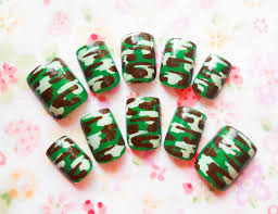 camouflage fake nails camo nails camo camouflage press on