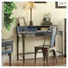 Distressed Computer Desk Marley Distressed Mixed Material Desk Multi Color Oak Grove