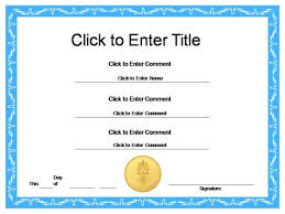 free download general award certificate template sample with blue