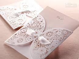 wedding invitation ecards lace cutout floral wedding invitation cards in chagne