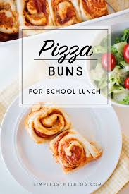 simple pizza buns recipe perfect for lunches