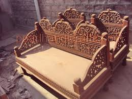 Solid Wood Furnitures Bangalore Wooden Sofa With Carving Kashiori Com Wooden Sofa Chair