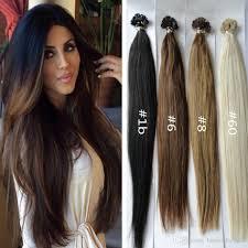 Brown Hair Extensions by 1g S 300g Human Flat Tip Hair Ash Brown Platinum Blonde Human