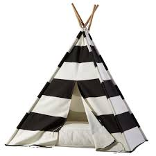 Kids Teepee by A Teepee To Call Your Own Black Stripe The Land Of Nod