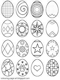 Symbol Abstract Easter Eggs Multiple Designs Per Sheet Egg Colouring Page
