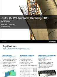 presentacion structural detailing 2011 auto cad autodesk