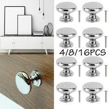 kitchen cabinet door handles walmart 4 8 16pcs stainless steel cabinet knobs drawer kitchen cupboard pull door handles