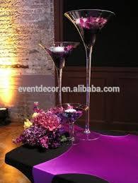 Tall Glass Vase Centerpiece Wholesale Martini Glass Vases Centerpieces Tall View Martini Vase