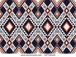 Oriental Design Geometric Ethnic Oriental Seamless Pattern Traditional Stock