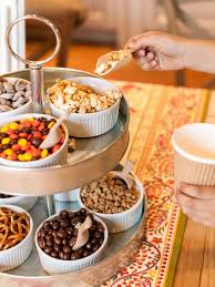 how to set up a snack mix station for snack mixes