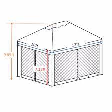 10 X 12 Patio Gazebo by Abba Patio 10x12 Feet Fully Enclosed Garden Gazebo Patio Canopy