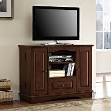Bedroom Tv Wall Mount Height Walker Edison 52 In Media Storage Wood Tv Console Traditional