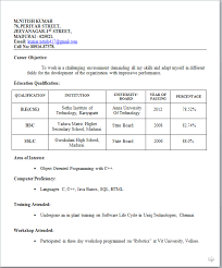 Format Resume For Job by Curriculum Vitae Format For Teaching Job