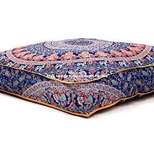 amazon com indian psychedelic elephant mandala floor pillow
