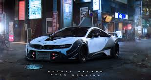 Bmw I8 Night - artstation ryan hawkins x khyzyl saleem bmw i8 ryan hawkins