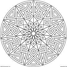 kaleidoscope coloring pages geometrip com free geometric