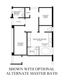 Master Bath Floor Plans by Optional Alternate Master Bath Floor Plan Master Bath Floor Plans