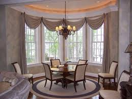 dining room bay window treatments interior home design ideas