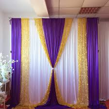 white gold and purple wedding 10ft x10ft free shipping white curtain purple silk drape gold