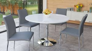 chrome round dining table round dining table for 4 modern dining room ideas
