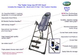 teeter hang ups f7000 inversion table teeter hang ups ep 950 special adapter kit