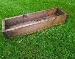 reclaimed wood planter box centerpiece home garden and