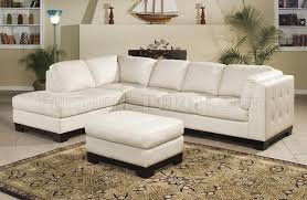 9958iv tufton sectional sofa in ivory full leather by homelegance