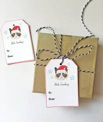 grumpy cat wrapping paper grumpy cat gift tags set of 10 christmas cat gift tags