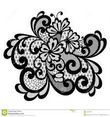 black vector lace ornament stock vector image 39331667
