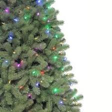 martha stewart living 7 5 ft pre lit led downswept denison spruce