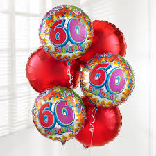 birthday balloon bouquets delivered the flower garden 60th birthday balloon bouquet the flower garden
