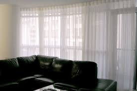 201 condo apartment curved window sheer curtains drapery and