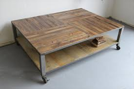 Coffee Table With Metal Base by Diy Pallet Coffee Table With Metal Base Pallet Furniture Diy
