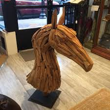 scrap wood sculpture monumental and striking scrap wood sculpture of a for