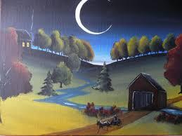 halloween folk art primitive paintings my eclectic mind