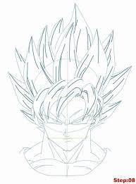 drawing goku super saiyan dragonball tutorial dragon ball