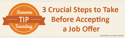 resume tip tuesday 3 crucial steps to take before accepting a job