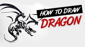 how to draw dragon tribal tattoo design 1 youtube