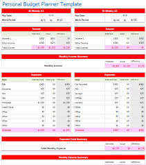 Excel Monthly Budget Template Monthly Budget Planner Template